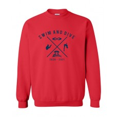 ISD Swim 2020 TRUMAN Crewneck Sweatshirt (Red)