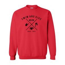 ISD Swim 2020 VAN HORN Crewneck Sweatshirt (Red)