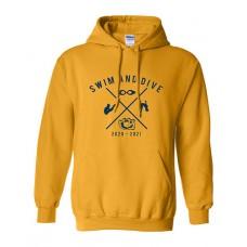 ISD Swim 2020 WILLIAM CHRISMAN Hoodie Sweatshirt (Gold)