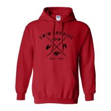 ISD Swim 2020 VAN HORN Hoodie Sweatshirt (Red)