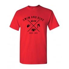 ISD Swim 2020 VAN HORN Short-sleeved T (Red)